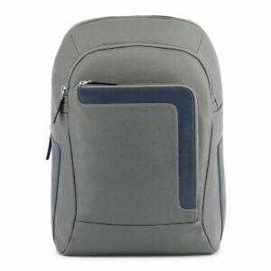Piquadro Men Backpack Gray Rucksack School Satchel Laptop Notebook Travel Bag