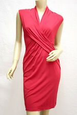 "$228 BCBG BURNT POPPY ""ACJ6D864"" RUCHED SLEEVELESS DRESS NWT S"