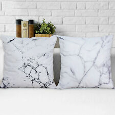 2PCS Marble Pillow Cover Cushion Covers Throw Pillow Cover Decorative Pillowcase