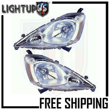 Headlights Headlamps Pair Left right set for 09-11 Honda FIT Sport