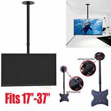 """17""""-37"""" LCD LED Plasma Monitor Tilting Swivel TV Ceiling Roof Mount Bracket US"""