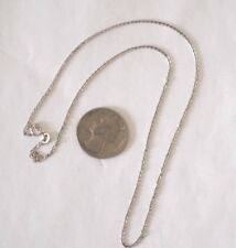 14K White Gold Chain 18 Inches NOT SCRAP