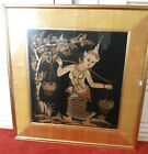 Beautiful Framed Thia Painted Silk Tapestry