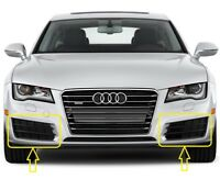 Genuine AUDI A7 (10-14) Front Bumper Lower GRILL PAIR SET  LEFT + RIGHT