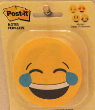 Post-it Unique Emojis, 2 Pads, 30 posts its per pad, Round, 4 Faces,  2pks