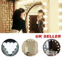 10  Led Bulbs Hollywood Mirror Lights Vanity Makeup Bathroom Dressing Table