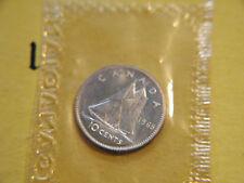 1965 ten cents 10c  silver dime coin Canada