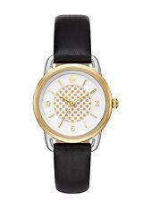 NWT Kate Spade New York Women's Boathouse Black Leather Strap Watch 30mm KSW1162
