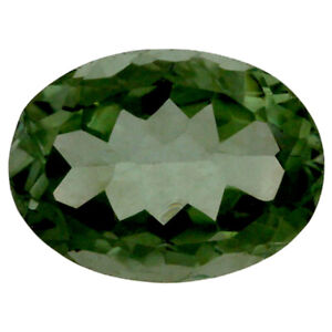 UNUSUAL 15.5x12.5mm OVAL-FACET FOREST-GREEN NATURAL BRAZILIAN AMETHYST GEMSTONE