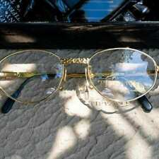 Vintage Tiffany Lunettes T482 Eyeglasses T482 C. 23k Gold Plated Life By Tiffany