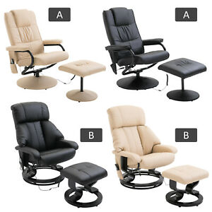 Recliner Massage Chair Arm Chair Armchair & Stool 10 Point Massage Heat Function