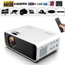 12000 Lumens 1080P Full HD LED VIDEO PROJECTOR AV/VGA/USB/SD/HDMI/TV Input UK
