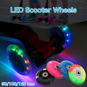 80-120mm LED Flashing Wheel Mini or Maxi Scooter REAR ABEC-7 Bearings UK