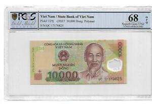 Viet Nam/State Bank of Viet Nam pick#119j 2017 10000 Dong Polymer PCGS 68 OPQ
