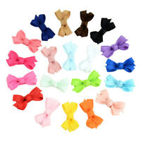 20 Pcs Girls Baby Kid Hair Bows Hairpin Alligator  Ribbon Clip Grosgrain NewNTZY