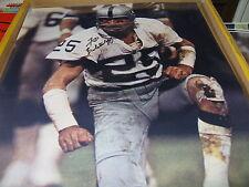 Fred Biletnikoff Oakland Raiders Signed 16x20 Photo Mud Shot