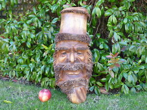 Bamboo Root Old Man Tree Spirit Wise Man Wooden Carving Mask Plaque.....XL