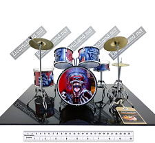 Mini Drum set iron maiden real dead one trib scale 1:4 miniature collectible kit