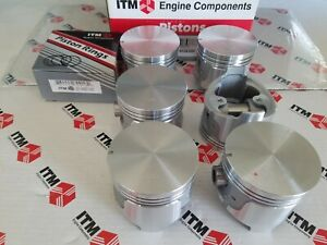 (6) Pistons W/Rings +.020 Over fits Datsun 280ZX 1981-1983 - 86.6mm RY6134-020