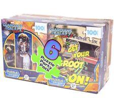 6 Puzzle Party Pack 100 Pcs Guardians Of Galaxy, SpiderMan, Despicable Me