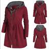 Women's Winter Warm Zip Up Hoodie Coat Ladies Long Hooded Parka Jacket Plus Size