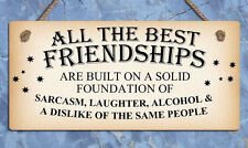 Hanging metal sign friendship best friends funny plaques signs home gifts