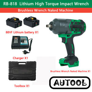 1300NM Cordless Brushless Impact Wrench For Makita 18V Li-ion battery compatible