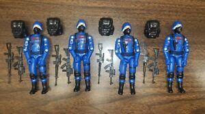 Gi joe cobra trooper style Black Major CUSTOM Cobra Trooper 2021 LOT OF 4 !!