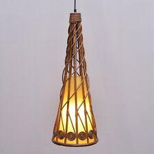 Restaurant Horn Rattan Ceiling Pendant Lights Living Room Trumpet Hanging Lamp