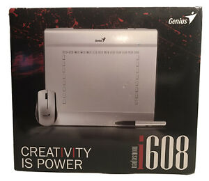 "Genius MousePen i608 Pen Tablet - Silver 8x6"" Tablet with Mouse & Stylus Pen"