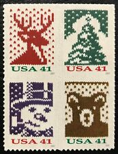 2007 Scott #4207-4210, 41¢, CHRISTMAS KNITS - Mint NH - Block of 4