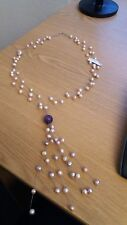 NEU Süßwasser-Perlen - Krönung ist die Amethyst-Kugel - zauberhafte Kette -