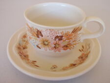 POOLE ENGLAND  CUP AND SAUCER - SUMMER GLORY