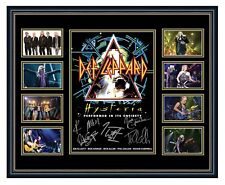 DEF LEPPARD 2018 HYSTERIA TOUR SIGNED LIMITED EDITION FRAMED MEMORABILIA