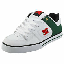 DC Shoes Pure Mens White Green Leather & Synthetic Skate Trainers