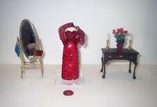 IGMA ARTIST Miniature Dollhouse Lot - LADIES COUTURE ACCESSORY & FURNITURE