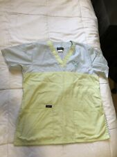 Dynasty Nursing 2Xs Womens Scrubs 2-Piece Bottoms and Top Pastel Blue & Green