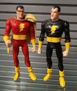 "DC Comics DIRECT JUSTICE LEAGUE SHAZAM & BLACK ADAM 6""  figures,  RARE"
