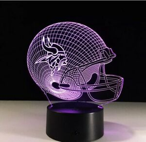 NFL Minnesota Vikings LED Light Lamp Collectible Kirk Cousins Home Decor Gift