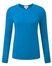 Pure Collection Cashmere Crew Neck Sweater Marine Blue Size UK 10 LF171 JJ 19
