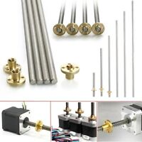 Stainless Trapezoidal Screw Makerbot Lead Screw+Brass T8 Nut For CNC 3D Printer
