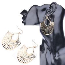 Women's Vintage Bohemian Boho Style Golden Hollow Out Drop Dangle Alloy Earrings