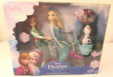 Disney Frozen Anna and Elsa's Musical Bicycle Playset with Olaf by Mattel