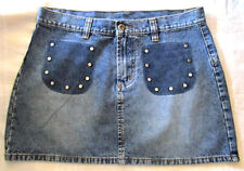 Ladies JAY JAYS Blue Denim Skirt Size 12 short womens like new faded look