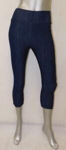AGNES & DORA NWT Dark Blue Denim Stretch Pixie Cropped Pants Jeggings sz XS