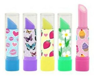 5 LIPSTICK ERASERS RUBBERS butterfly cupcakes Party Bags toy girls