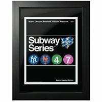 "NY Yankees v Mets 2000 World Series Program Cover Photo (Size: 14"" x 18"") Framed"