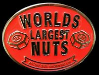 Worlds Largest Nuts Actual Size Below Funny Joke Belt Buckle Boucle De Ceinture