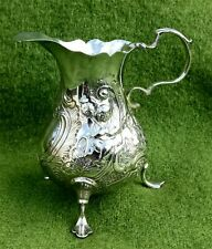 More details for george iii  silver cream jug with figural decoration - london 1761 - 2.58oz