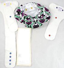 Itti Bitti Tutto - one size Cloth Diaper Nappy Cover & Soaker Set - Girls Purple